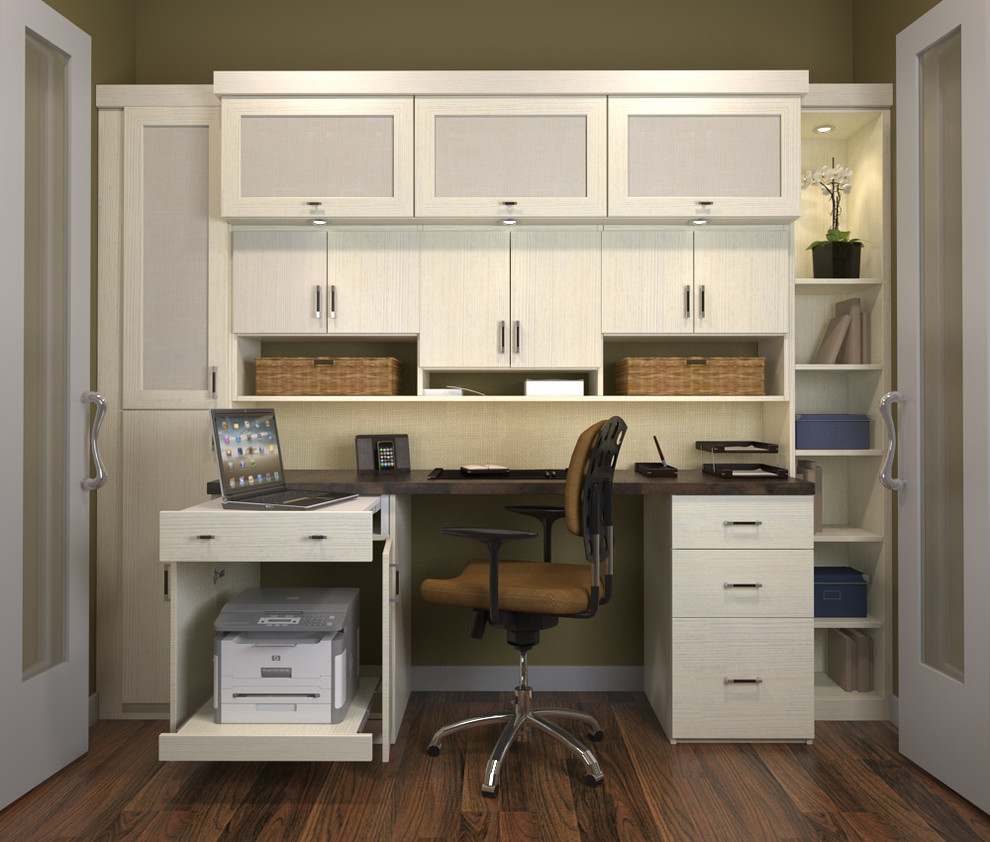 2 Drawer Filing Cabinet Home Office Traditional with Built in Storage Custom Home Office Custom Office Custom Made Home Office Home Office
