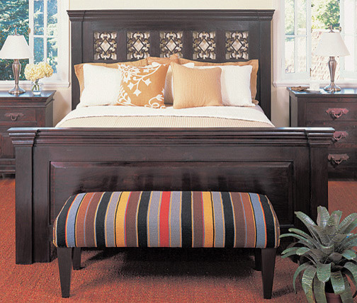 3 Drawer Nightstand Bedroom Contemporary with California King Dark Brown Bed King Bed Queen Bed Wood Headboard Wooden