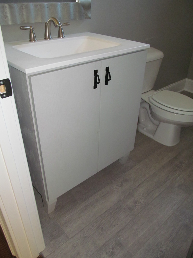 42 Inch Bathroom Vanity Spaces Transitional with 42 Inch Bathroom Vanity Clayton Gray Wood Plank Tile Interior Design Details