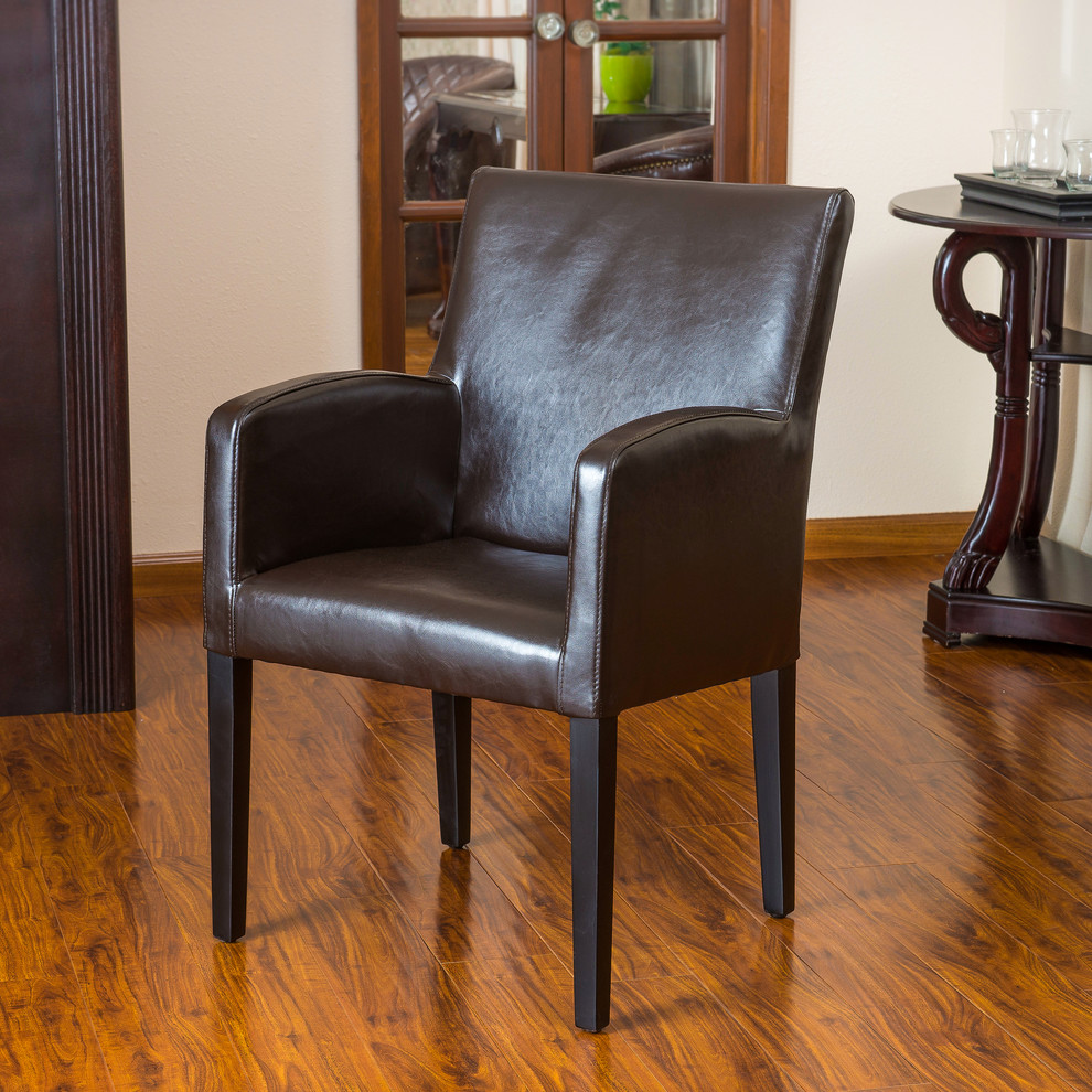 Accent Chairs with Arms Spaces Contemporary with Accent Chair Arm Chair Bonded Leather Contemporary Dining Chair Dining Room Kitchen