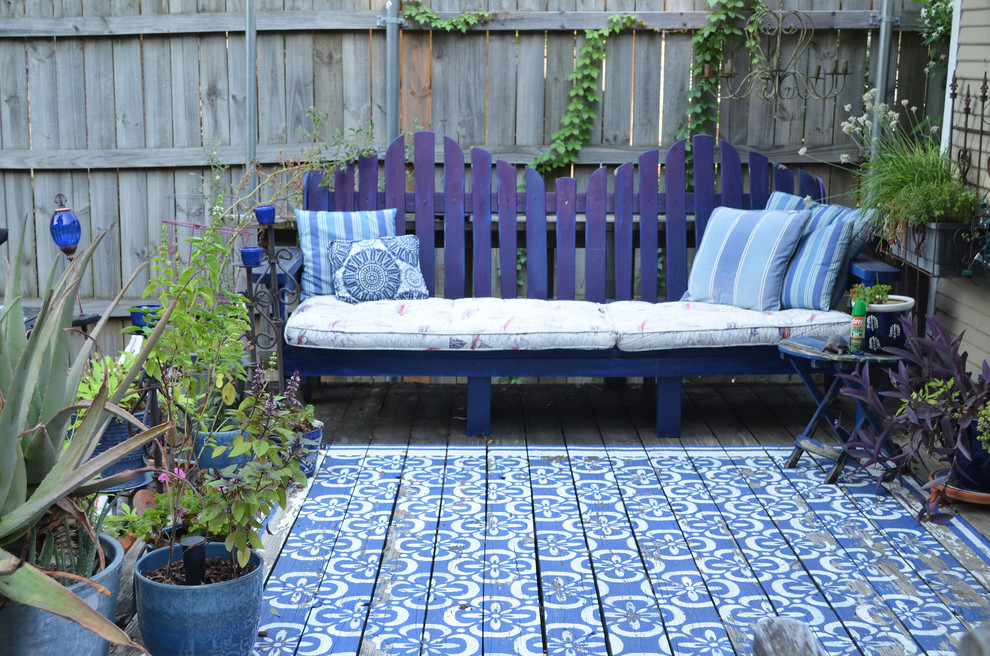 adirondack furniture Deck Traditional with adirondak bench blue blue patio furniture cobalt deck DIY garden Moroccan My