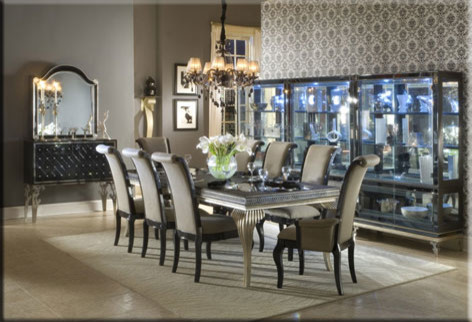 Aico Dining Room Midcentury with Aico Dining Hollywood Room Set Swank
