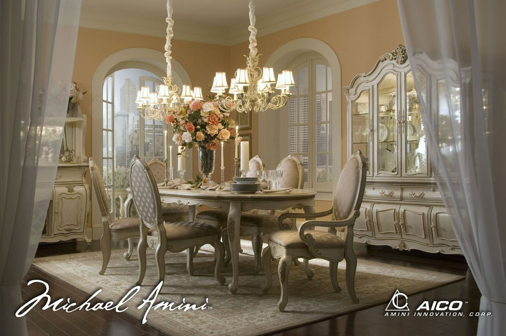 Aico Dining Room Traditional with Aico Dining Diningroom Room Set