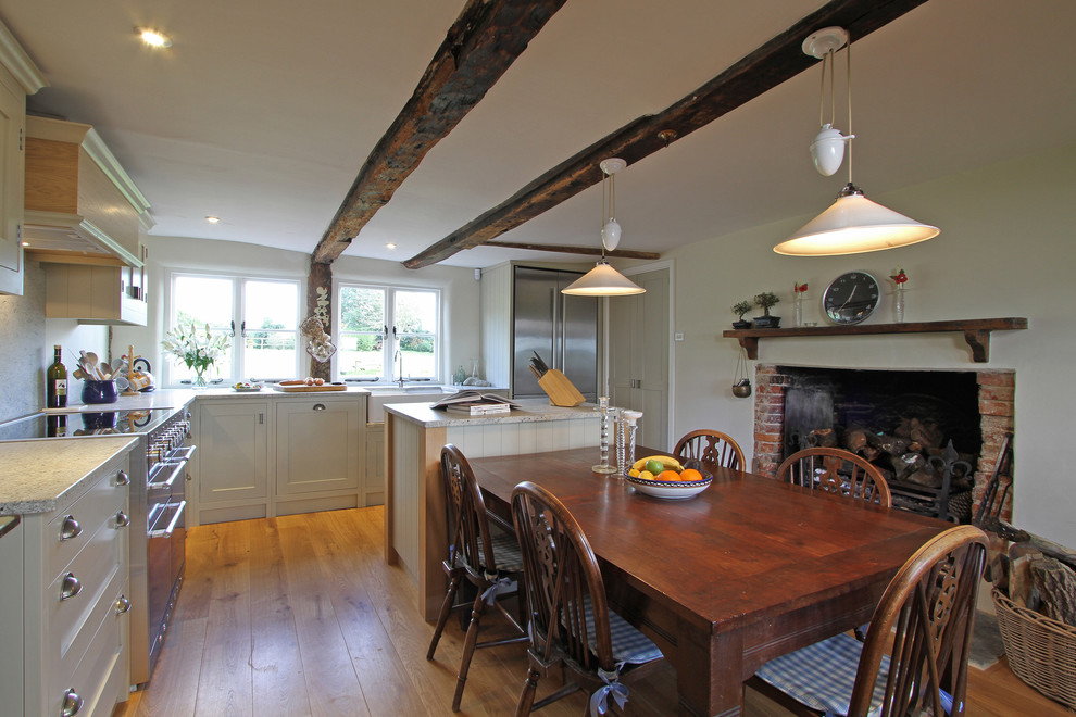 All Clad Slow Cooker Kitchen Farmhouse with Beams Beau Port Kitchen Bespoke Kitchen Bespoke Kitchen Design Bin Pulls Birch Veneer