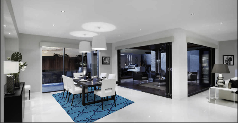 Alliyah Rugs Dining Room Contemporary with None