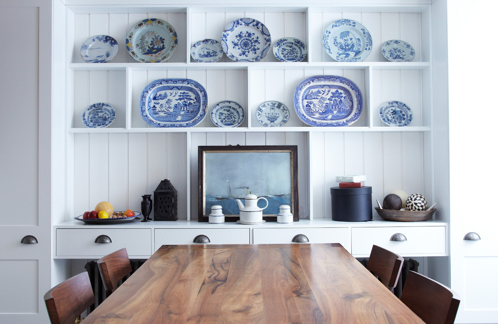 American Atelier Dinnerware Dining Room Eclectic with Decorative Plates Display Case Dresser Plate Display Plates
