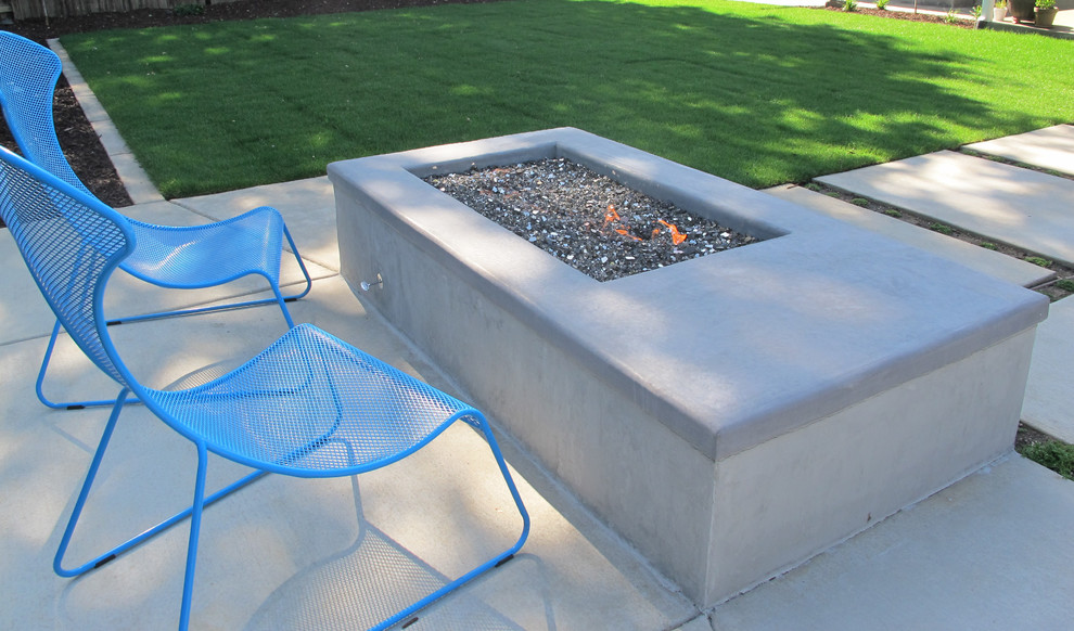 American Fireglass Landscape Contemporary with American Fireglass Concrete Fireplace Fire Pit with Concrete Cap Fire Pit With
