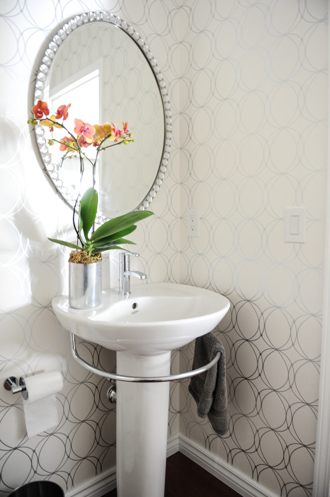 american standard pedestal sink powder room with clean lines curren chair dining family friendly