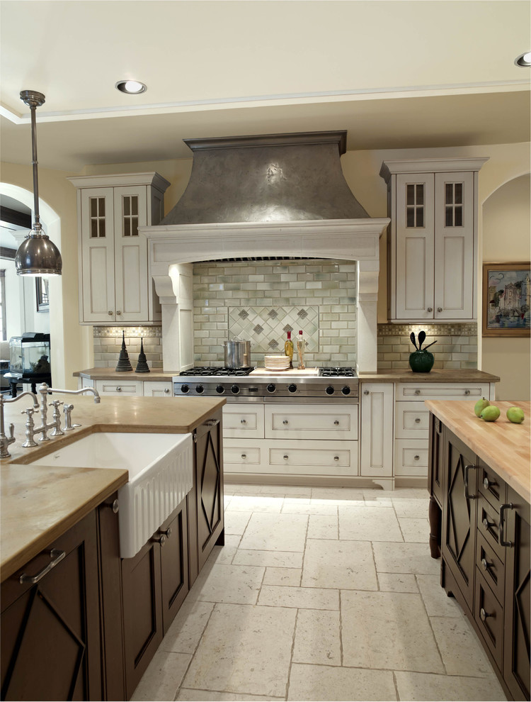 Apron Front Sink Kitchen Traditional with Apron Sink Bridge Faucet Butcher Block Butcher Block Countertops Ceiling Lighting Clean