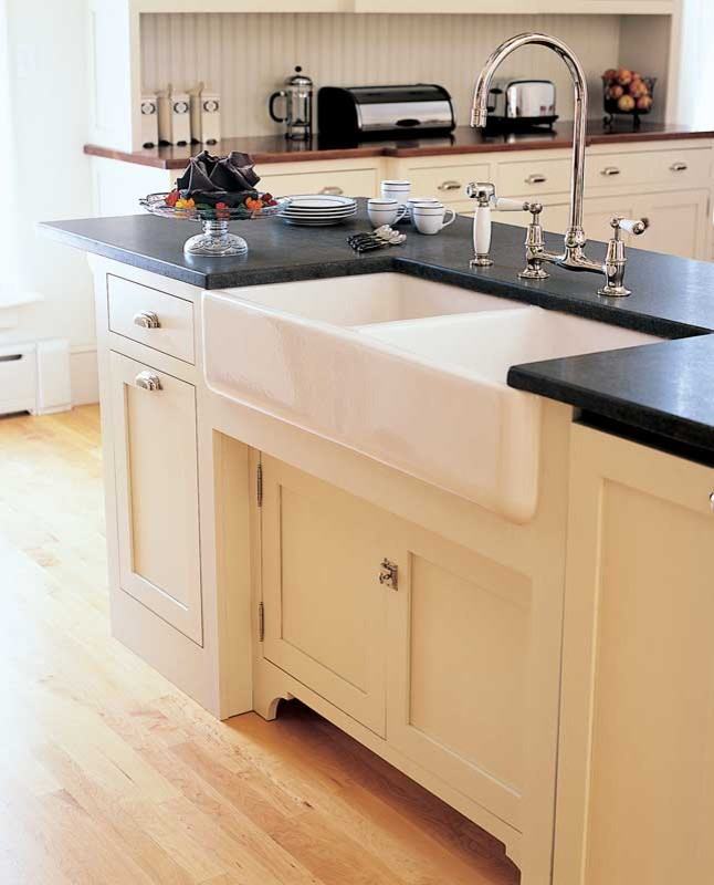 Apron Sink Kitchen Traditional with None 1
