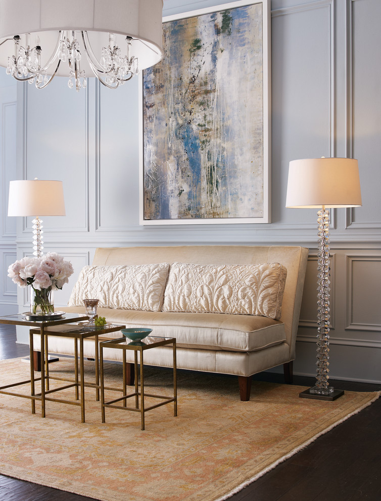 armless sofa Living Room Traditional with none
