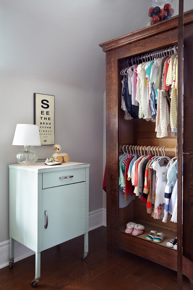 Armoire Wardrobe Nursery Contemporary with Baby Clothes Baby Dresser Baby Room Clear Table Lamp Dark Wood Armoire