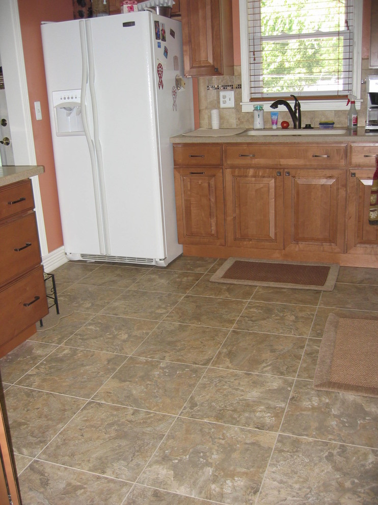 armstrong vinyl tile Kitchen Traditional with accent backsplash cabinets countertops floor glass kitchen luxury vinyl tile lvt solid