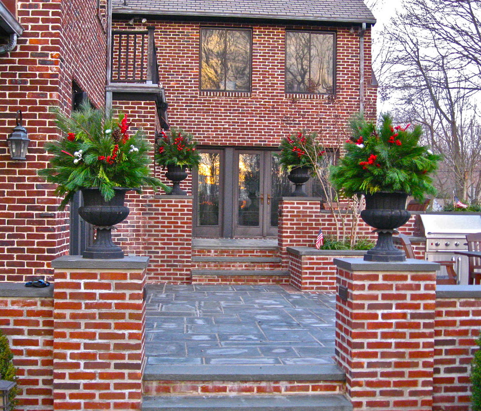 artificial christmas trees for sale Exterior Traditional with concrete patio concrete stairs design Exterior glass double door greenery grill Landscape