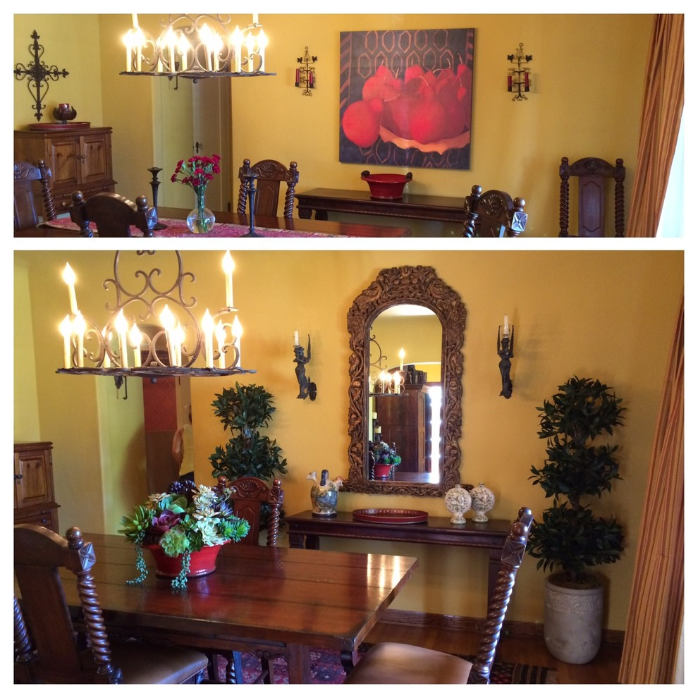 Artificial Topiary Trees Dining Room Mediterranean with Spanish Spanish Dining Room