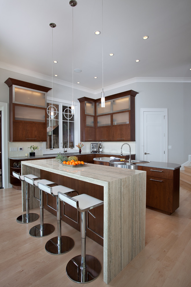 Artisan Sinks Kitchen Contemporary with Breakfast Bar Ceiling Lighting Double Islands Eat in Kitchen High Ceilings Island1
