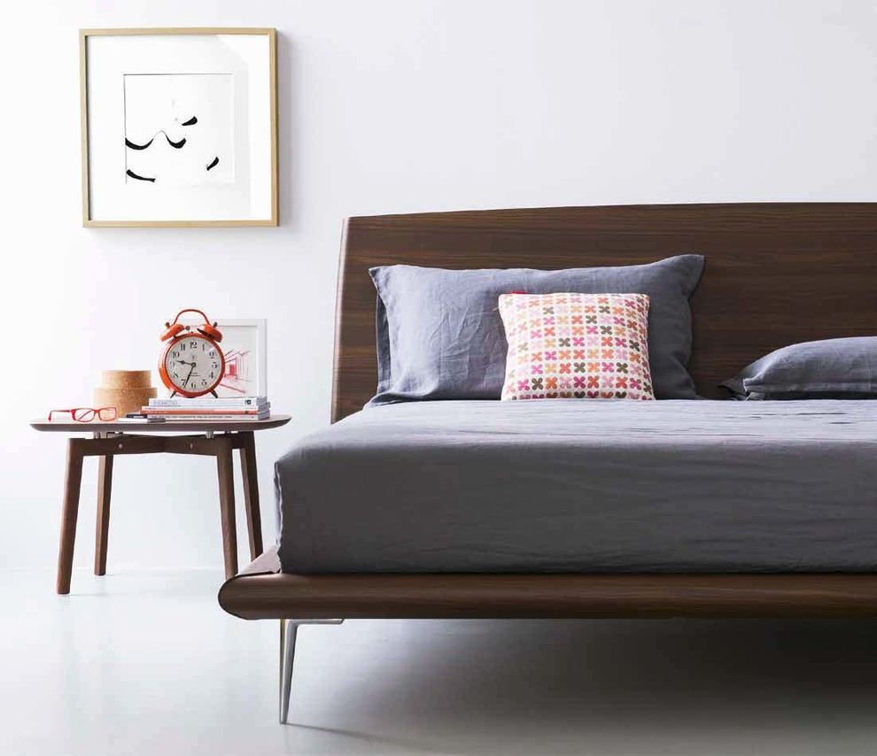 Atlas Homewares Bedroom Modern with Contemporary Design Dark Wood Mid Century Modern Modern Natural Finishes Wood