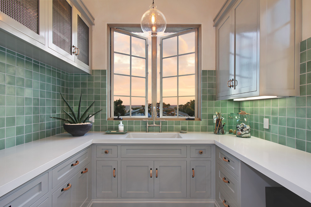 Atlas Homewares Laundry Room Mediterranean with Andrew Patterson Christopher Brandon Erin Flinn Design 1