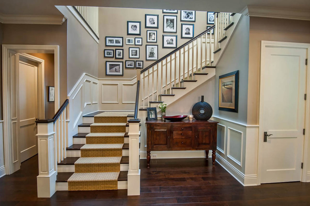 Attache Case Staircase Traditional with Dark Wood Flooring Dark Wood Floors Laminate Staircase Wood Floors