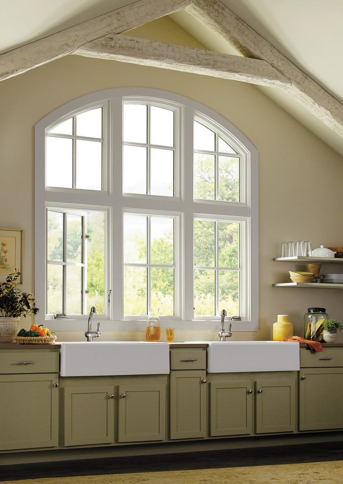 Avanti Microwave Kitchen Traditional with Cabinets Casement Window Kitchen Window Marvin Sink