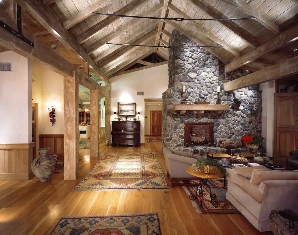 Aztec Rug Living Room Rustic with Cabin Cozy Oriental Rug Rustic Stone Fireplace Timber Turkish Rug Urn