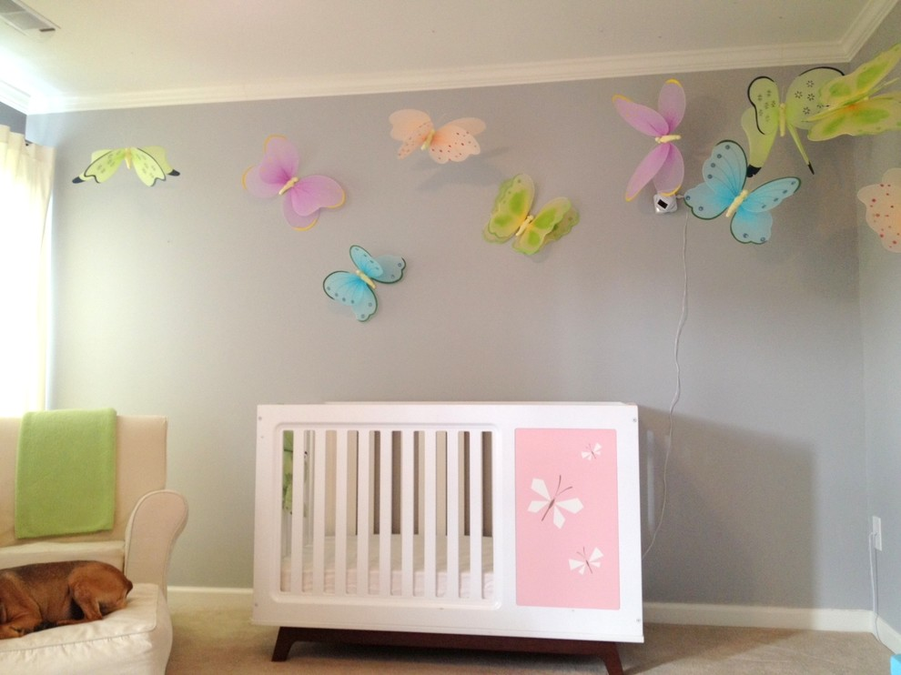 Baby Gliders Kids Eclectic with Baby Girl Nursery Baby Glider Butterflies Butterfly Gray and Pink Nursery Modern