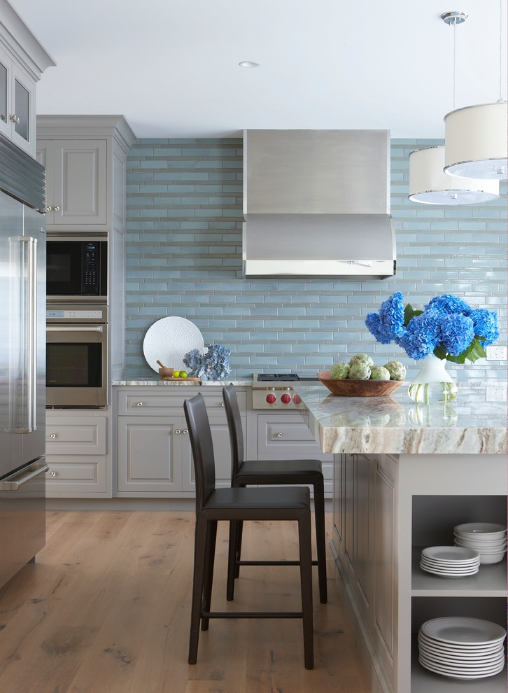 Backsplash Tile Designs Kitchen Beach with Backsplash Bar Stool Blue Blue Backsplash Blue Kitchen Backsplash Blue Tile Cabinets