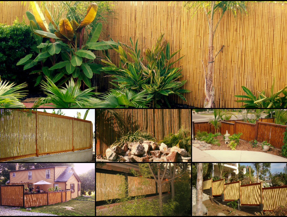 Beau Bamboo Fencing Rolls Spaces Tropical With Backyard X Scapes Bamboo Fence  Bamboo Fence Roll Bamboo Fences