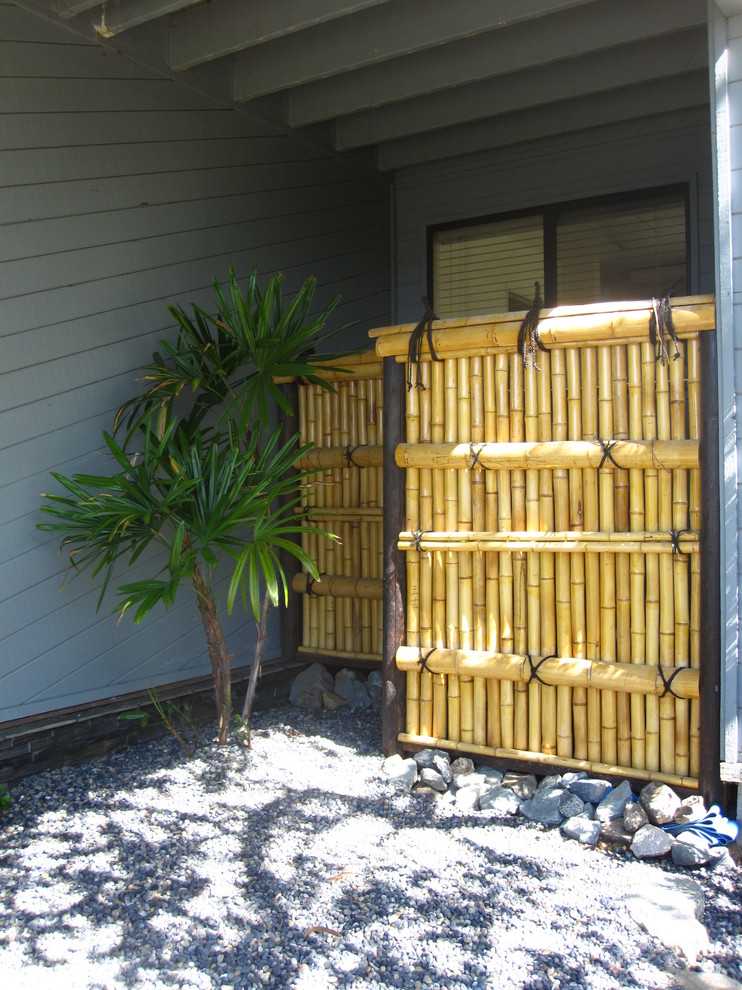 Backyard X Scapes Rolled Bamboo Fencing bamboo-fencing-rolls-spaces-tropical-with-backyard-x-scapes-bamboo