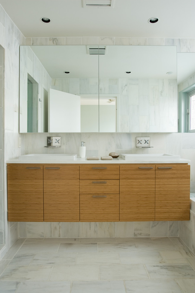 Bamboo Sheets Review Bathroom Contemporary with Bamboo Cabinets Bathroom Mirror Bathroom Storage Ceiling Lighting Double Sinks Double Vanity1