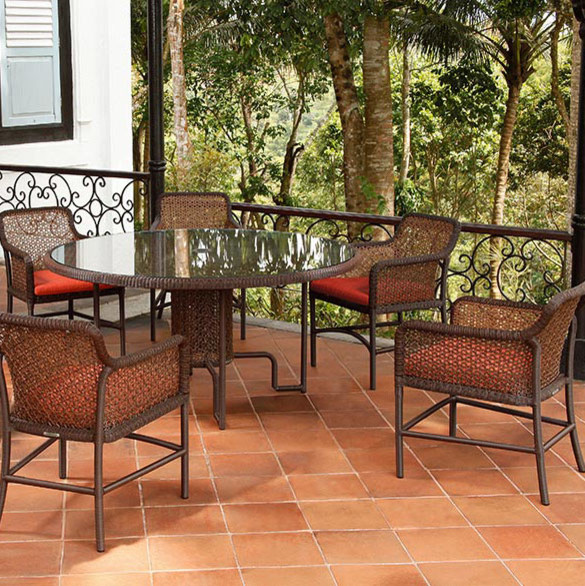 Barlow Tyrie Landscape with Barlow Tyrie Kirar 59 Round Dining Table Barlow Tyrie Kirar Dining Armchair