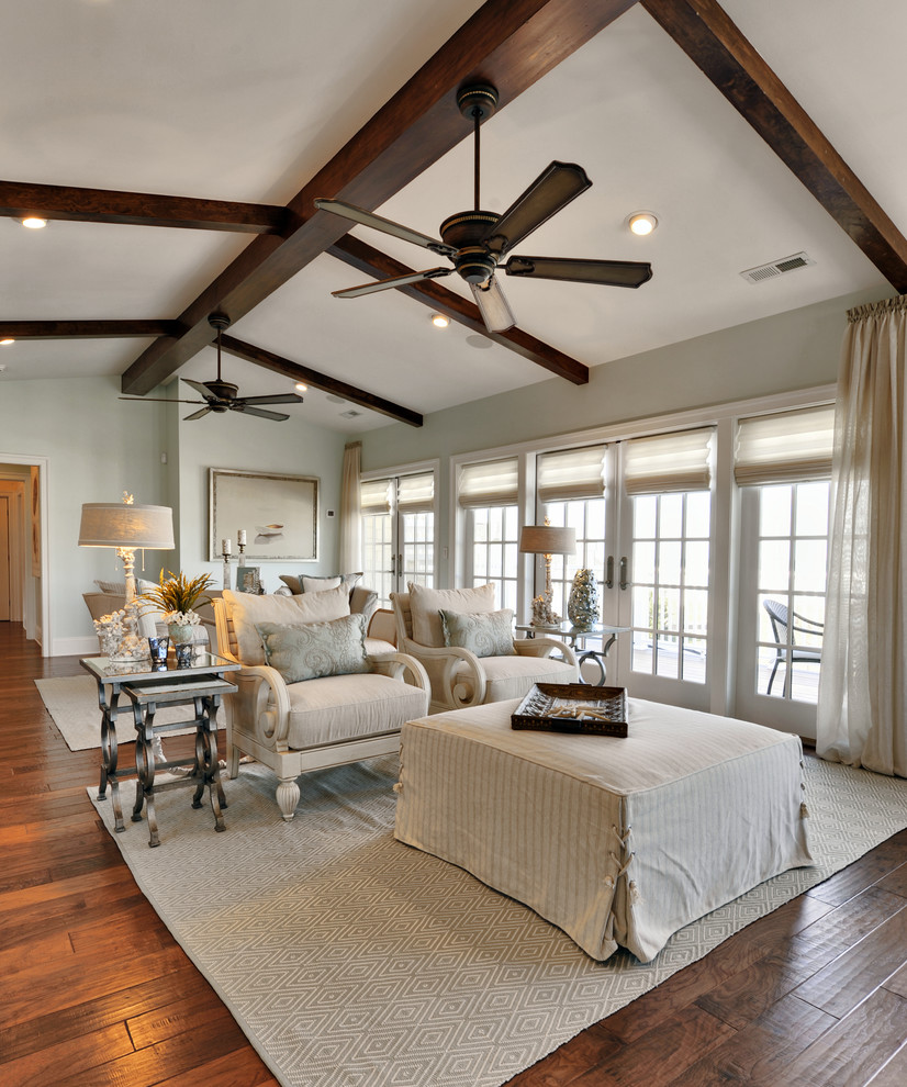 Bathroom Fan Motor Living Room Traditional with Area Rug Arm Chairs Ceiling Fan Curtain Panel Dark Stained Wood French