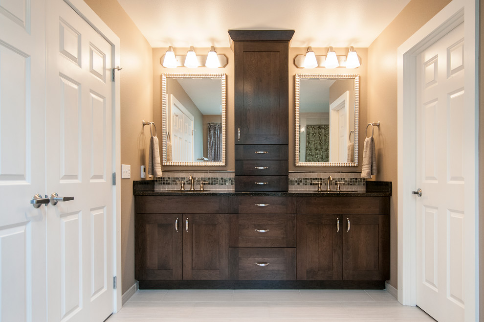 Bathroom Storage Tower Spaces Traditional with Bathroom Storage Tower Five Piece Bath Floor Heat Framed Mirrors Frameless Shower