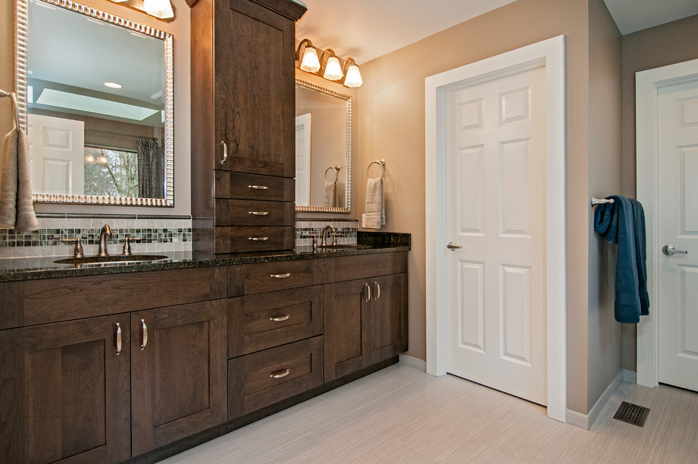 Bathroom Storage Tower Spaces Traditional with Bathroom Storage Tower Five Piece Bath Floor Heat Framed Mirrors Frameless Shower1