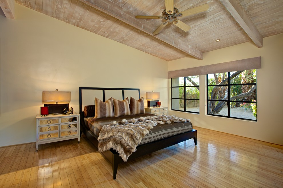 Beachy Bedding Bedroom Contemporary with Accent Wall Asian Art Asian Inspired Furniture Asymmetrical Bar Area Bath And