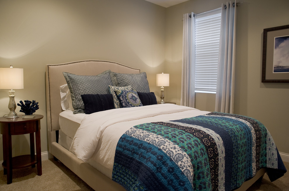 Beachy Bedding Bedroom Transitional with Beach Home Beachy Bedding Blue and Green Coastal Cool Colors Custom Draperies