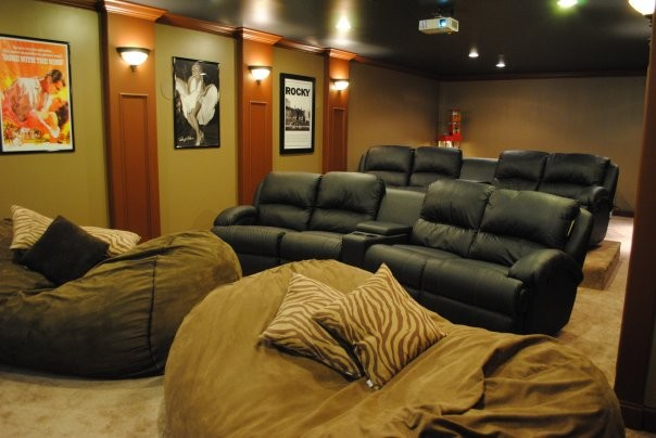 Bean Bag Chairs Home Theater Modern with None