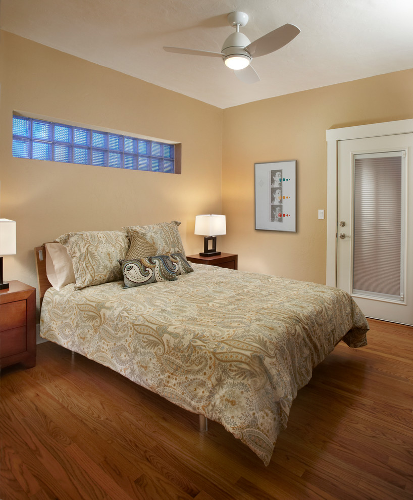 Bedspread Sets Bedroom Contemporary with Bedding Beige Door Casing Ceiling Lamp Frosted Glass Cubes Frosted Glass Door