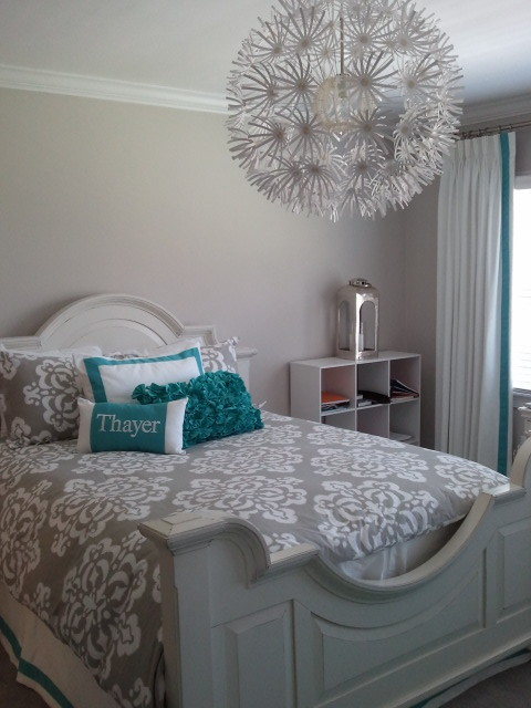 Bedspreads for Teens Bedroom Contemporary with Banded Bedskirt Banded White Drapes Teenage Girls Bedroom White and Turquoise Bedding