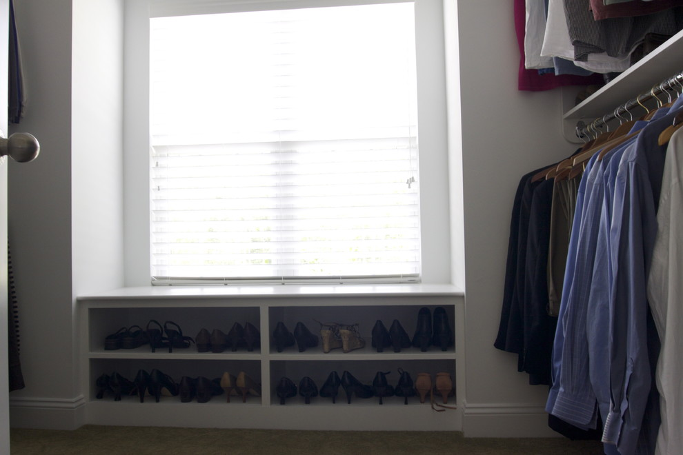 Bench with Shoe Storage Closet Traditional with None