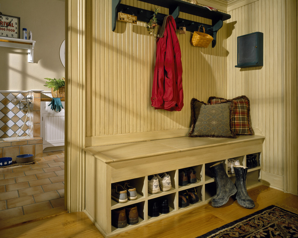 Bench with Shoe Storage Entry Traditional with Beadboard Built Ins Coat Rack Cubbies Entry Entry Bench Foyer Mudroom Pets