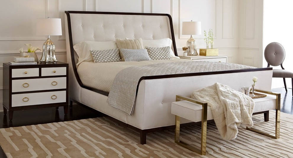 Bernhardt Furniture Bedroom Transitional with Accents Beautiful Bed Bedroom Bench Bernhardt Furniture Chic Chic Living Classic Comfortable