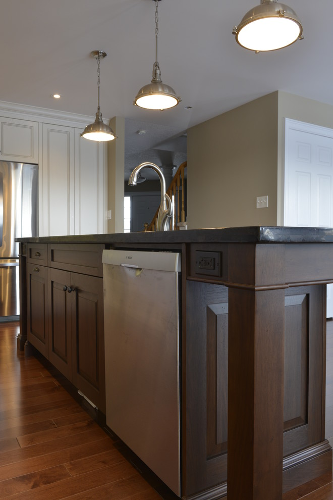 Beverage Tub Kitchen Traditional with Architectural Details Beverage Bucket Tub Built in Refrigerator Built in Storage Custom Made Flooring Interior1