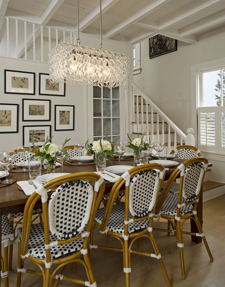 Bistro Chairs Dining Room Traditional with Bistro Chairs Cape Cod Style Centerpiece Chandelier Coffered Ceiling Floral Arrangement Gallery