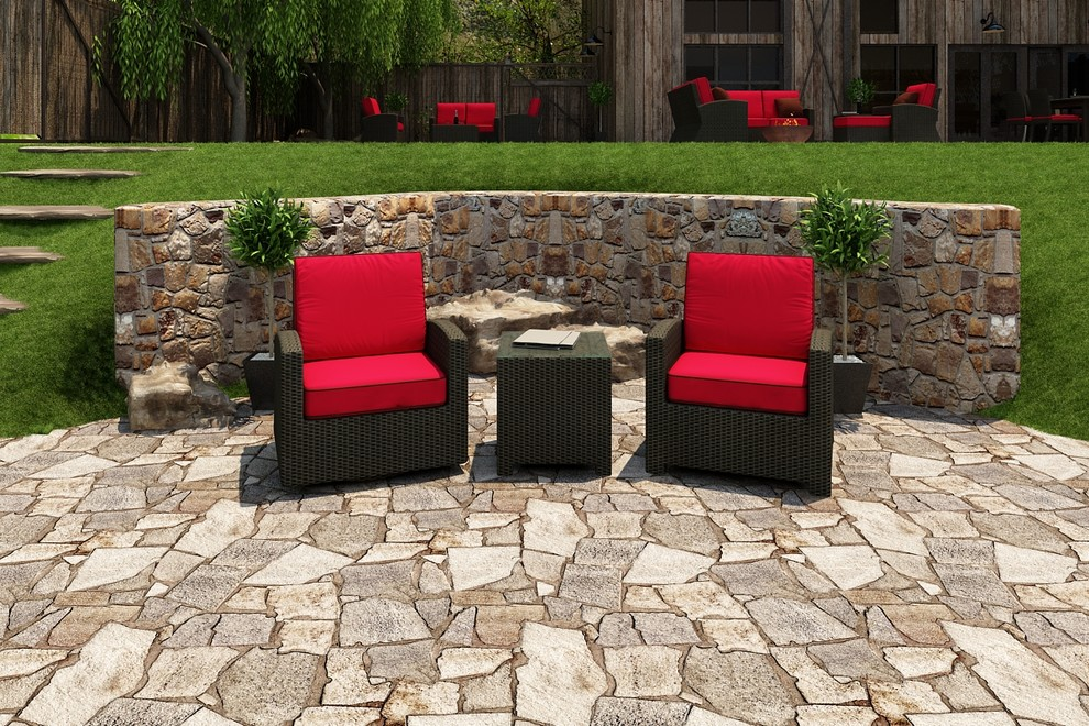 Bistro Patio Set Patio Contemporary with 3 Piece Barbados Chat Set 3 Piece Bistro Patio Set 3 Piece1