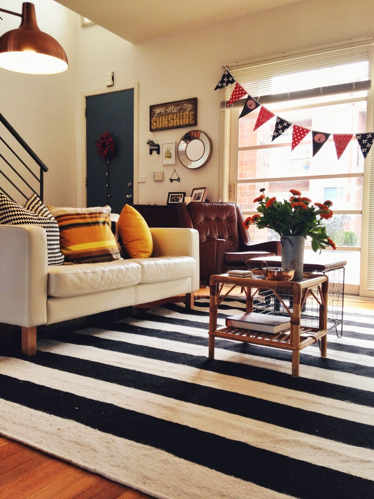 Black and White Striped Rug Living Room Eclectic with Artwall Black and White Black and White and Mustard Black and White