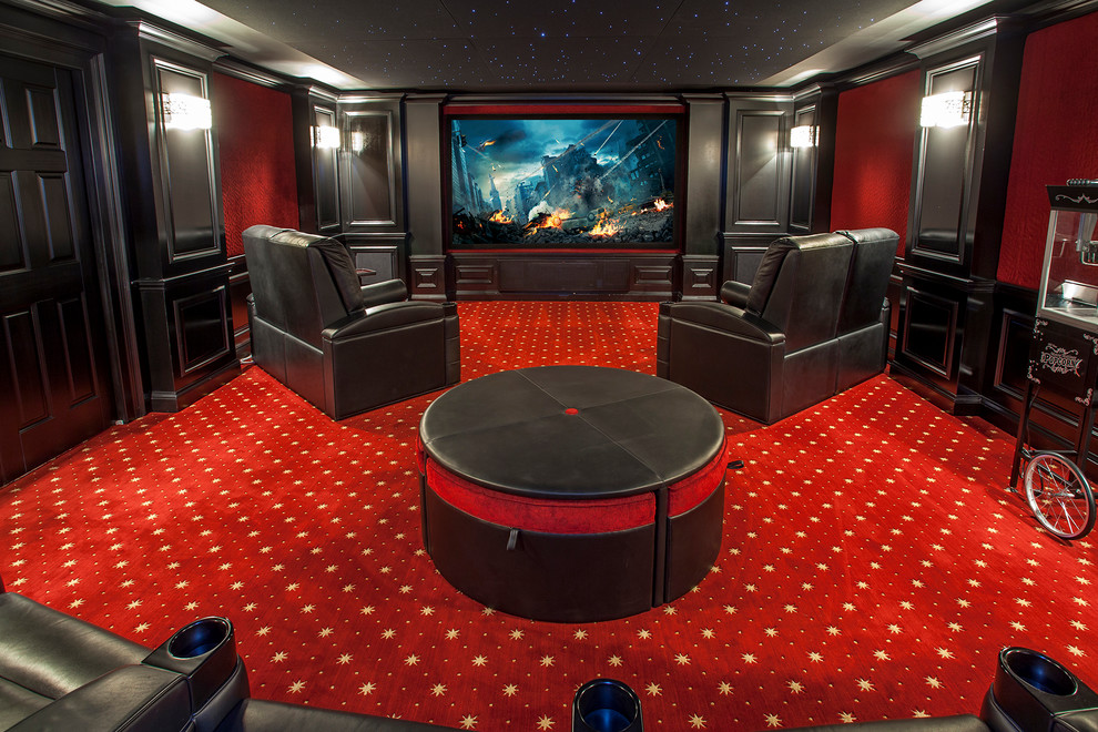 Black Leather Recliner Home Theater Traditional with Black and Red Black Leather Lounge Chair Black Leather Recliner Black Molding