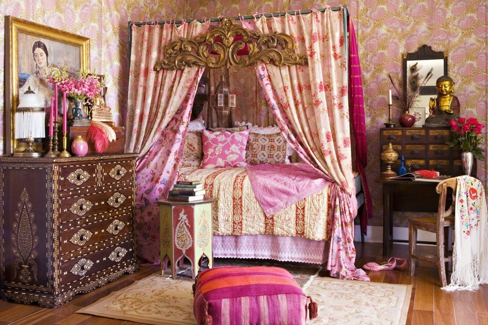 Boho Curtains Bedroom Shabby Chic with Apothecary Area Rug Bedding Bohemian Bright Colors Buddha Canopy Carved Chair Curtains