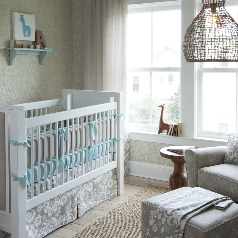 Bookend Nursery Transitional with Area Rug Arm Chair Baby Room Crib Crib Bedding Giraffe Ideas For