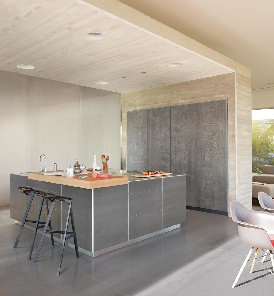 Boos Block Kitchen Contemporary with Exterior Tile Floor Tile Interior Tile Kitchen Tile Large Format Porcelain Slabs